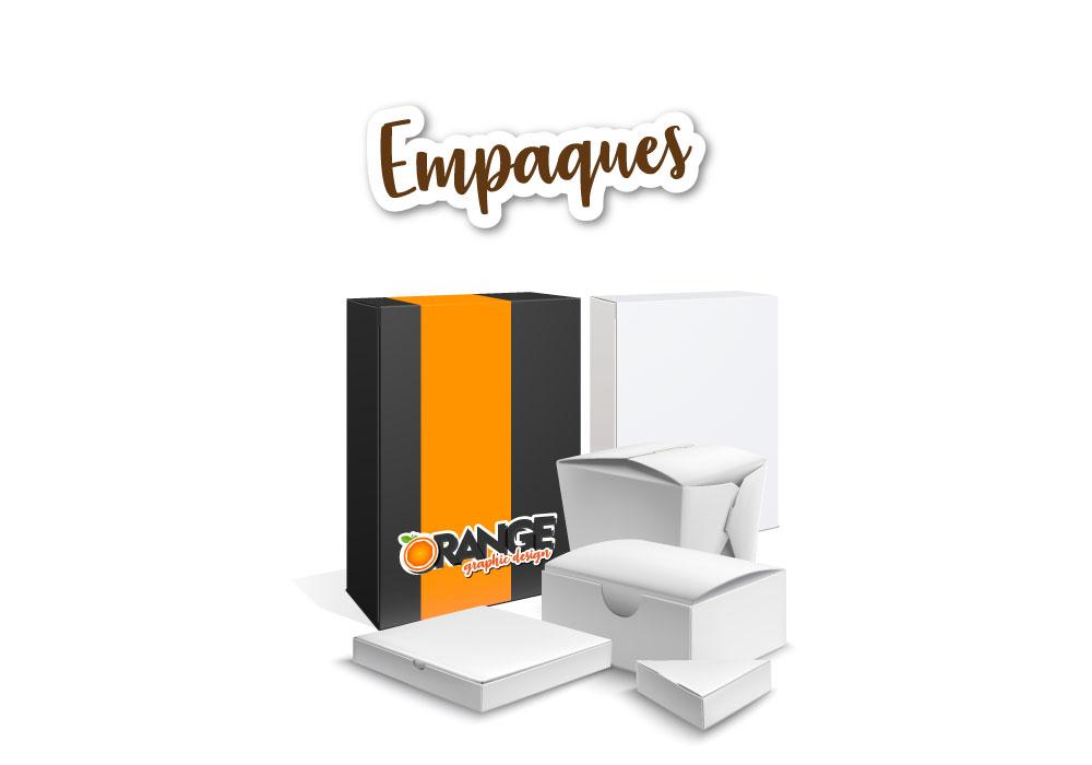 Diseño de empaques - Orange publicidad